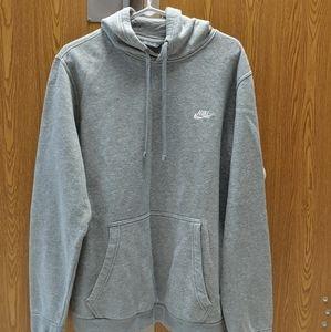 Grey nike sweatshirt mens large hoodie